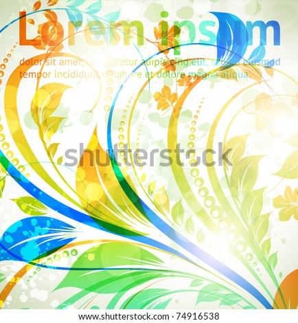Floral spring and summer design elements. Flower abstract bright background for retro design. Vector. eps 10. - stock vector