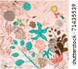 Floral spring illustration banner - stock vector