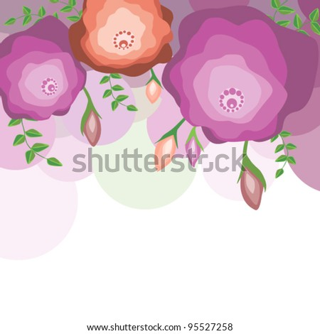 Floral template for card - stock vector