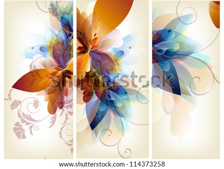 Floral vector - stock vector