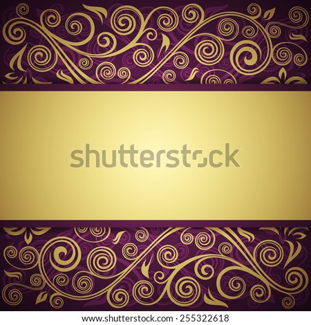 Floral vector background  - stock vector