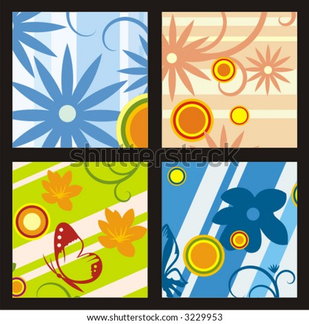 Floral vector background. Check my portfolio for more of this series as well as thousands of other great vector items.