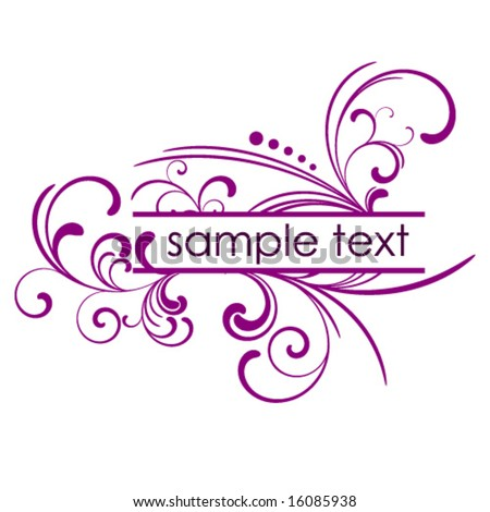 Floral vector frame with place for your message - stock vector