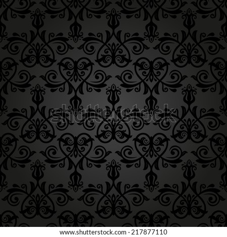 Floral vector oriental pattern with damask, arabesque and floral elements. Seamless abstract wallpaper and background