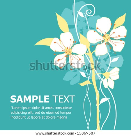 Floral Vector Template. Greeting Card. - stock vector