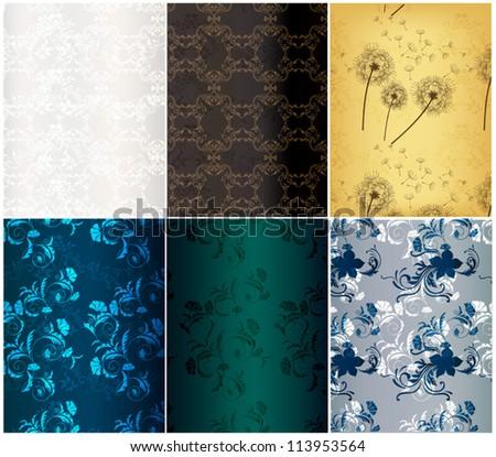 Floral vector  wallpaper for design - stock vector