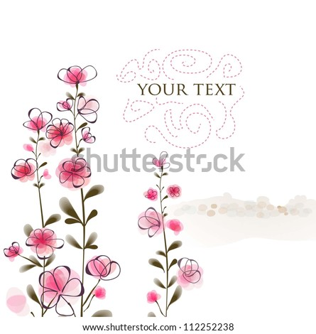 floral vintage background. vector illustration eps10 - stock vector