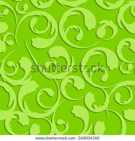Floral Vintage Seamless Pattern Background Vector Illustration EPS10 - stock vector