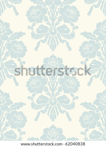 Floral vintage seamless pattern for retro wallpapers - stock vector