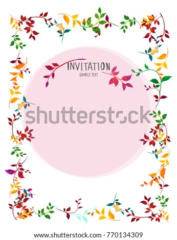Florals invitation card frame spring flowers stock vector florals invitation card frame spring flowers wedding invitation vector stopboris Image collections