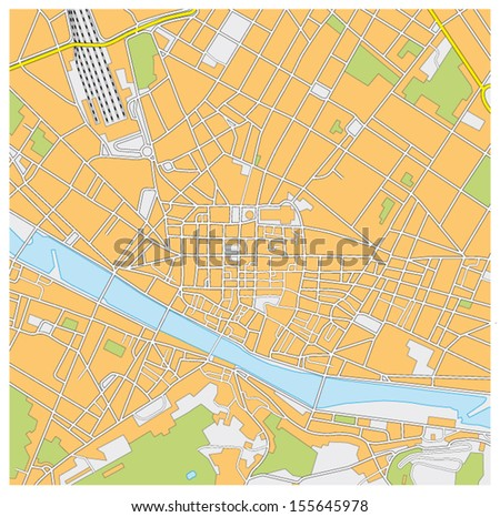 florence city map - stock vector