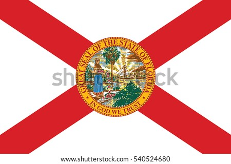 Florida State Flag, USA. Vector Format