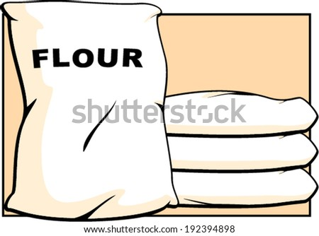 flour sacks - stock vector