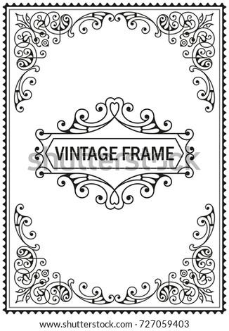 Flourish border corner frame decorative elements stock vector flourish border corner and frame decorative elements for design invitations frames menus vector stopboris Image collections