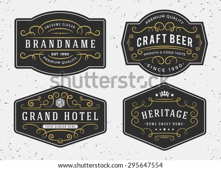 Flourish calligraphy frame design for labels, banner, logo, emblem, menu, sticker and other design || Vintage Decorative Flourishes Calligraphic - stock vector