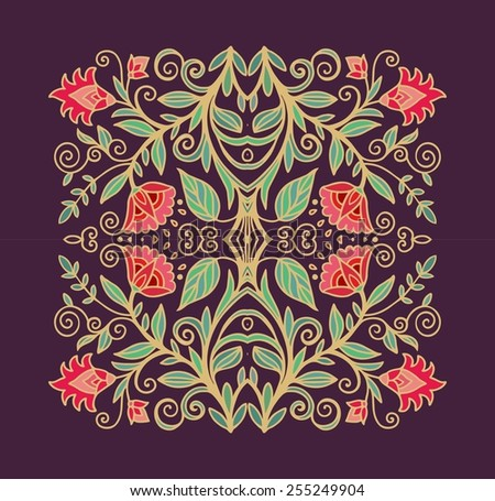 Flourish composition - stock vector
