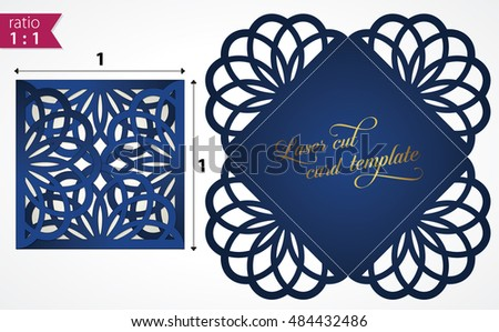 Flourish wedding invitation card vector laser stock vector flourish wedding invitation card vector with laser cut pattern may be used for card making stopboris Image collections