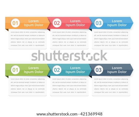 Flow chart template, infographics design elements with numbers, and text, business infographics, workflow, steps, options, vector eps10 illustration - stock vector