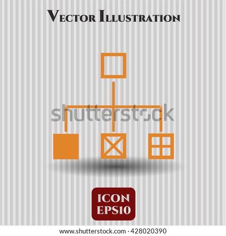 Flowchart icon, Flowchart icon vector, Flowchart icon symbol, Flowchart flat icon, Flowchart icon eps, Flowchart icon jpg, Flowchart icon app, Flowchart web icon, Flowchart concept icon - stock vector