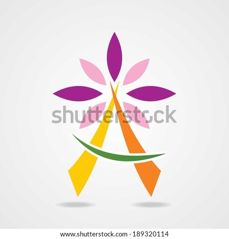 Flower abstract logo template. Health & SPA abstract icon. Vector. - stock vector