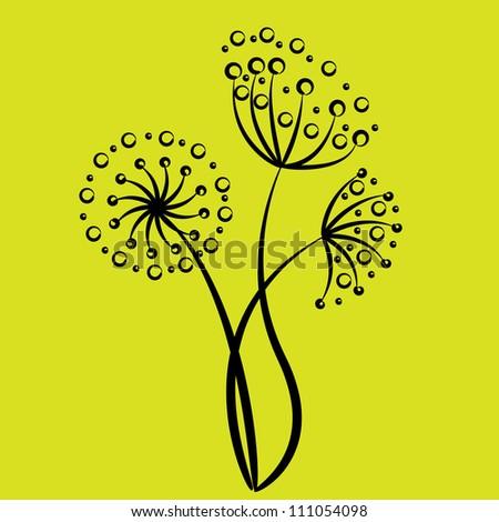 flower art - stock vector