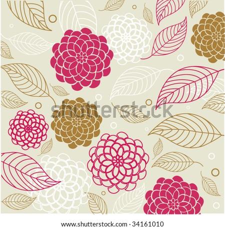 flower background - stock vector