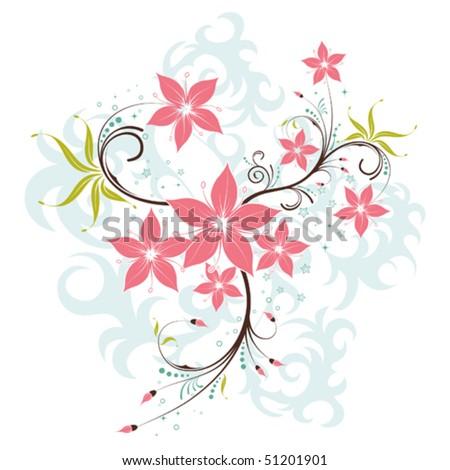 Flower Background, element for design, vector illustration - stock vector