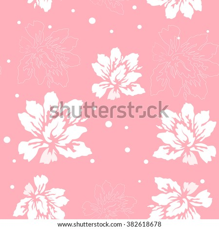 Flower background pink - stock vector