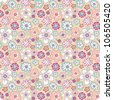 flower background, seamless pattern, flower, vector, spring, summer, woman, handmade - stock vector