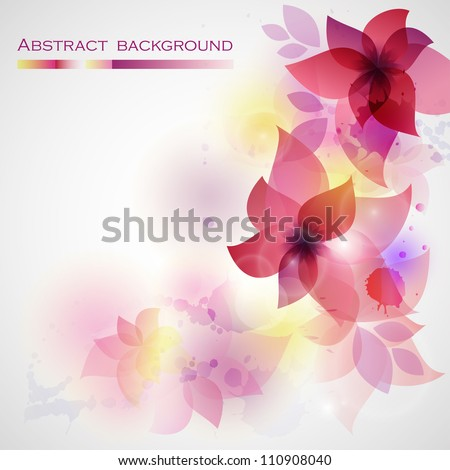 Flower background with orchid. Card for mothers day. - stock vector