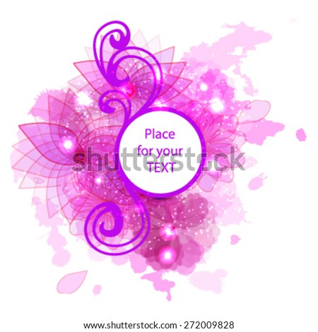 flower banner for your text - stock vector
