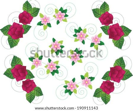 Flower borders flower borders create beautiful border roses stock flower bordersflower borderscreate a beautiful border with roses or pink flowers mightylinksfo