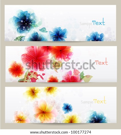 Flower brochure vector designs. - stock vector