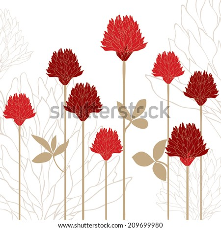 Flower card - stock vector