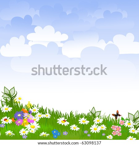 Flower clearing - stock vector