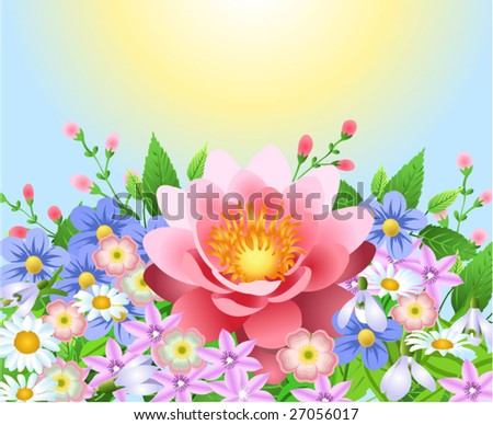 flower decor - stock vector