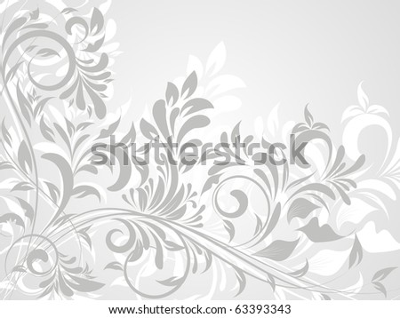 flower decoratively romantically abstraction illustration - stock vector
