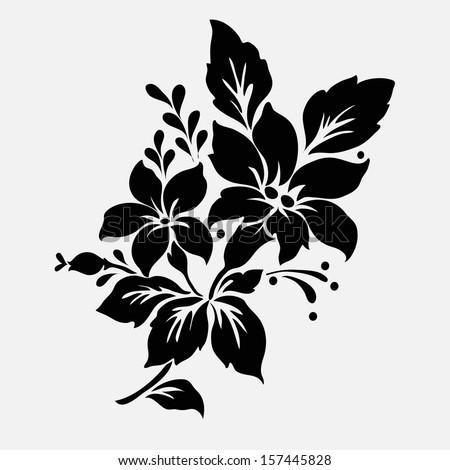 Flower design elements vector - stock vector