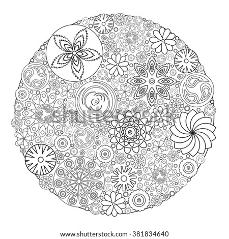 flower design for coloring book for grown up an adult coloring book floral drawing for - Grown Up Coloring Books