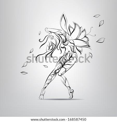 Flower Fairy. vector illustration - stock vector