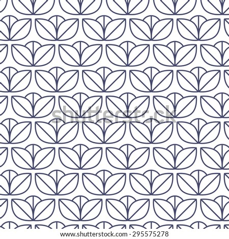 flower floral minimalistic seamless pattern. - stock vector