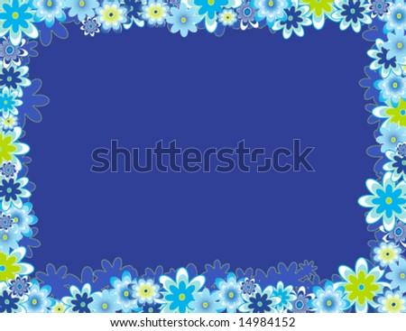 flower frame - stock vector
