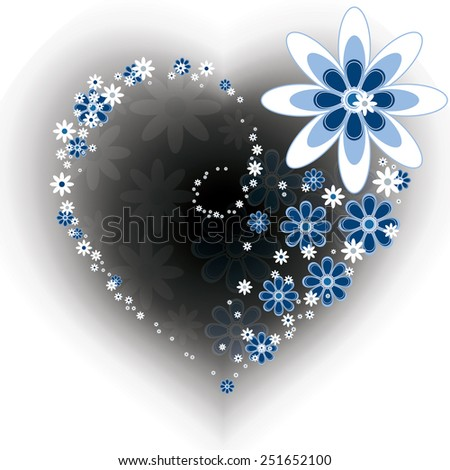 Flower Heart. - stock vector