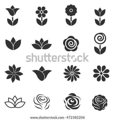flower icon flower beauty symbol vector stock vector royalty free