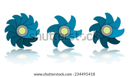 Flower Icon Set, vector eps10 illustration - stock vector