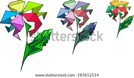 flower illustration with different colours