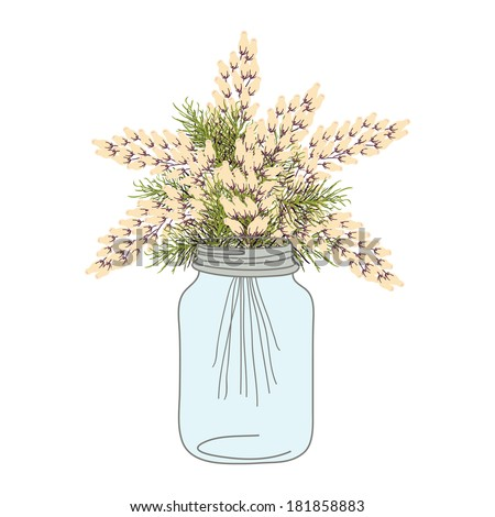 Mason Jar Flowers Stock Images, Royalty-Free Images ...