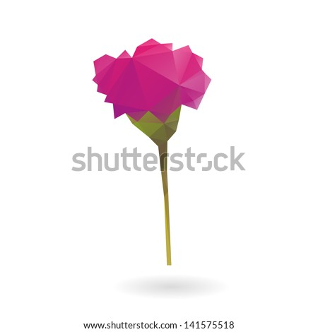 Flower isolated on a white backgrounds - stock vector