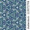 Flower kaleidoscope pattern.  Seamless vector illustration - stock vector