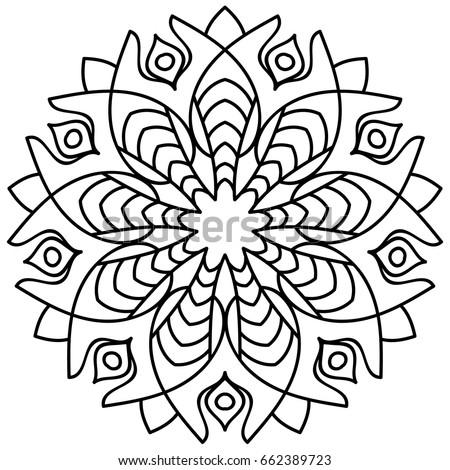 Flower Mandala Decorative Round Ornaments Anti Stress Therapy Patterns Weave Design